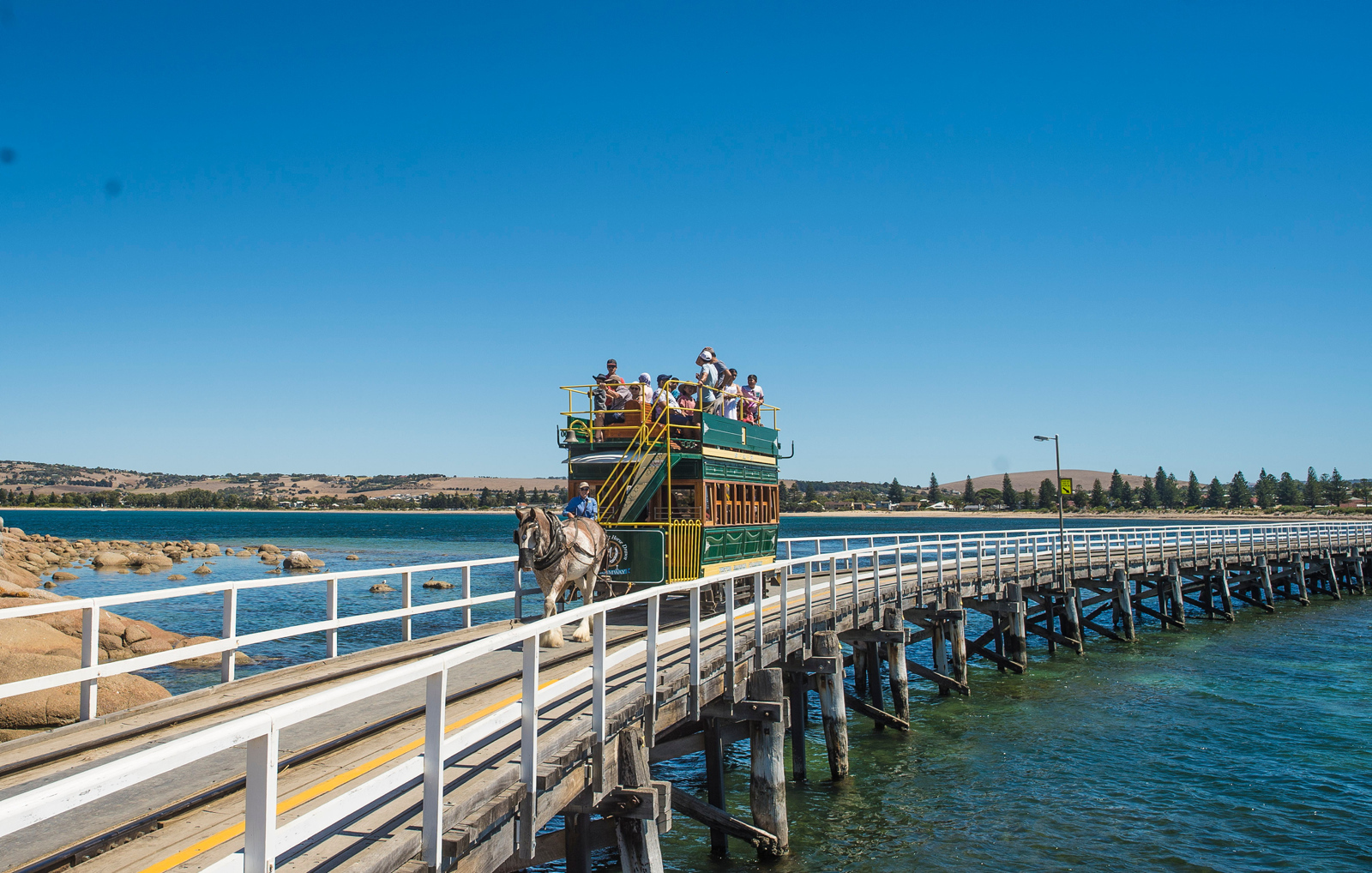 Victor Harbour horse-drawn coach to Granite Island