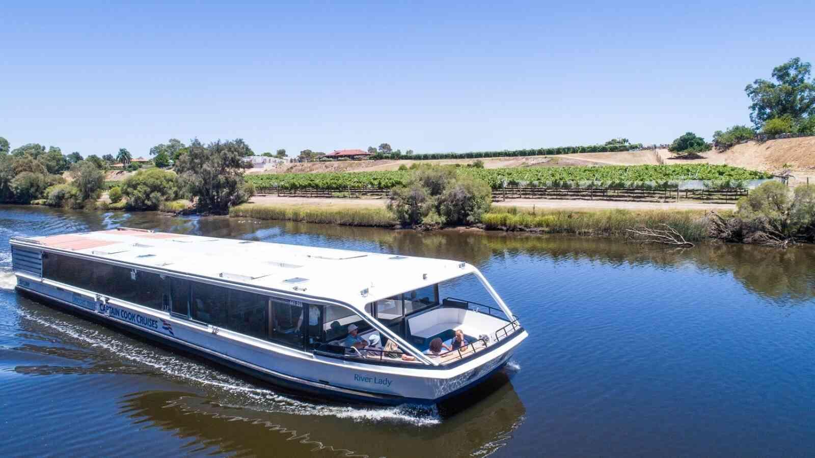 Swan River, Captain Cook Cruises, Wine