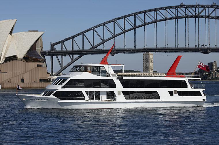 John Cadman 2 JC2 boat exterior hero with Opera House charter fleet
