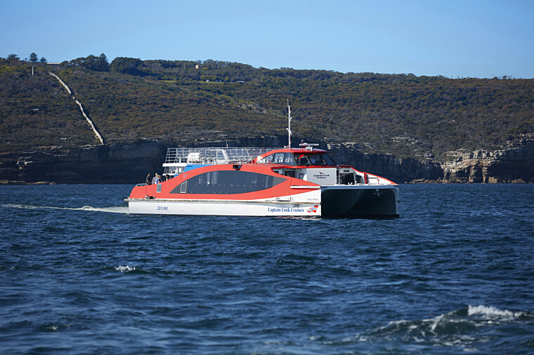 Rocket 2 decks ferry past the Heads boat exterior charter fleet Mary Reibey