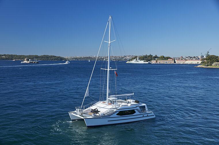 Sydney Crystal exterior boat daytime charter fleet
