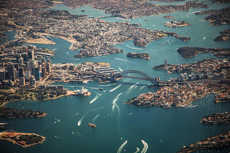 Sydney Harbour Aerial shot during the day non-ccc unsplash