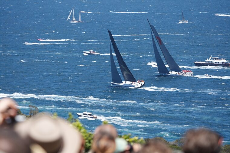 Boxing Day Sydney to Hobart sailing yacht race outside the heads non-ccc stock
